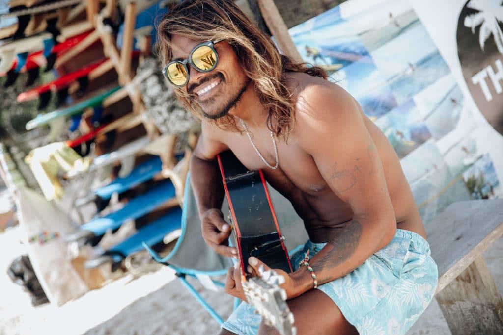 Surfer/Singer in bali