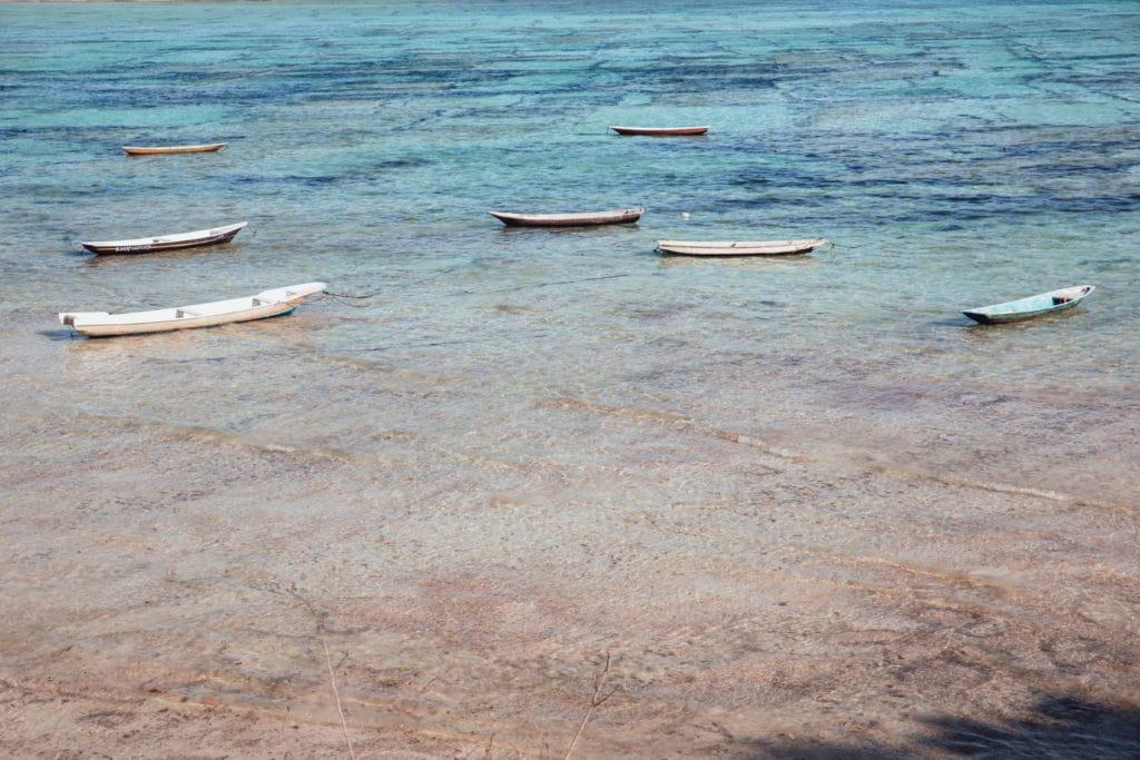 Small boats in Bali beach