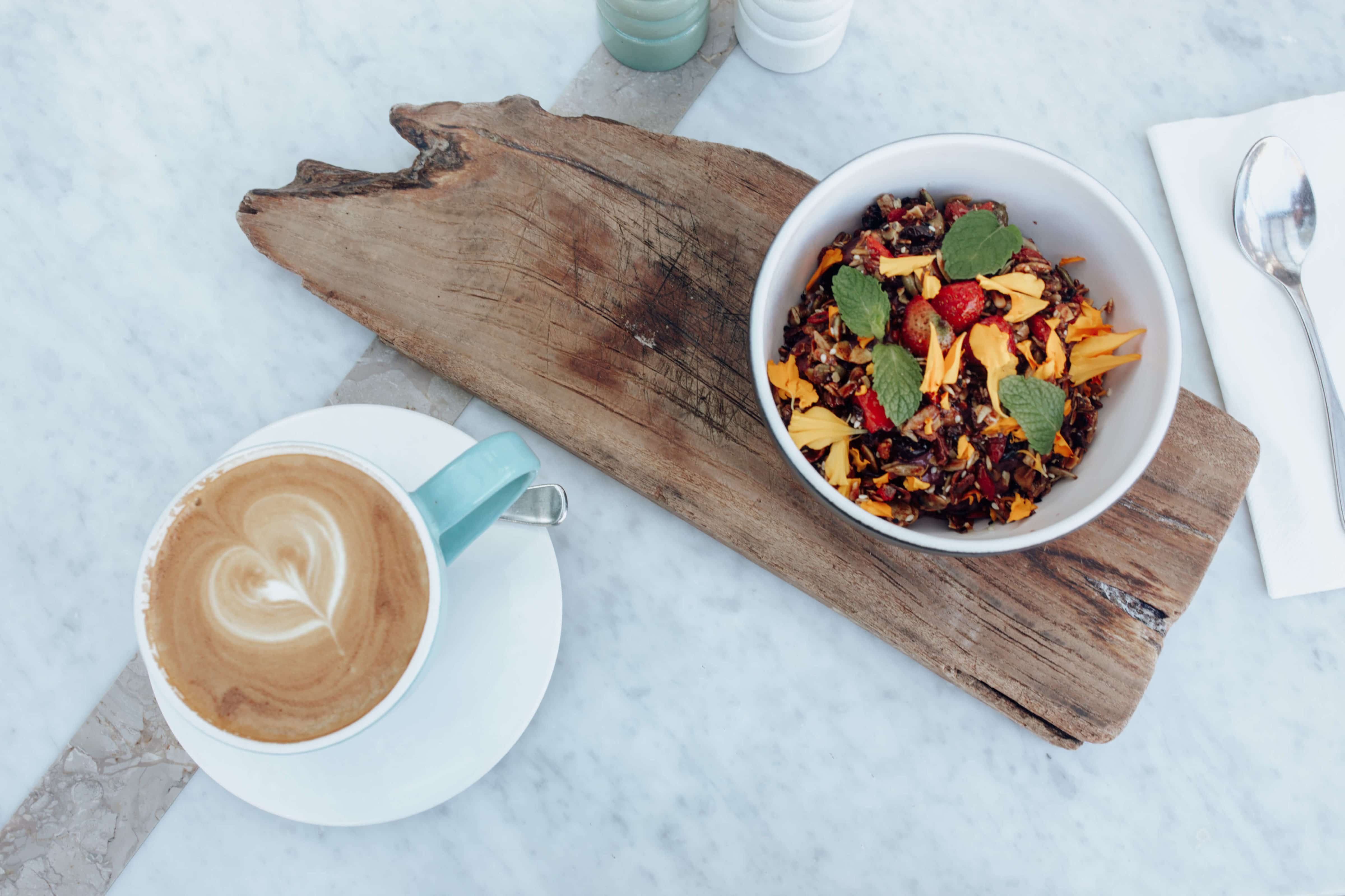 Travel photography Bali - Breakfast - Latte - Bowl - Food