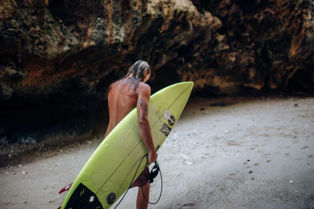 Travel photography Bali - Padang Padang Beach - Surfer