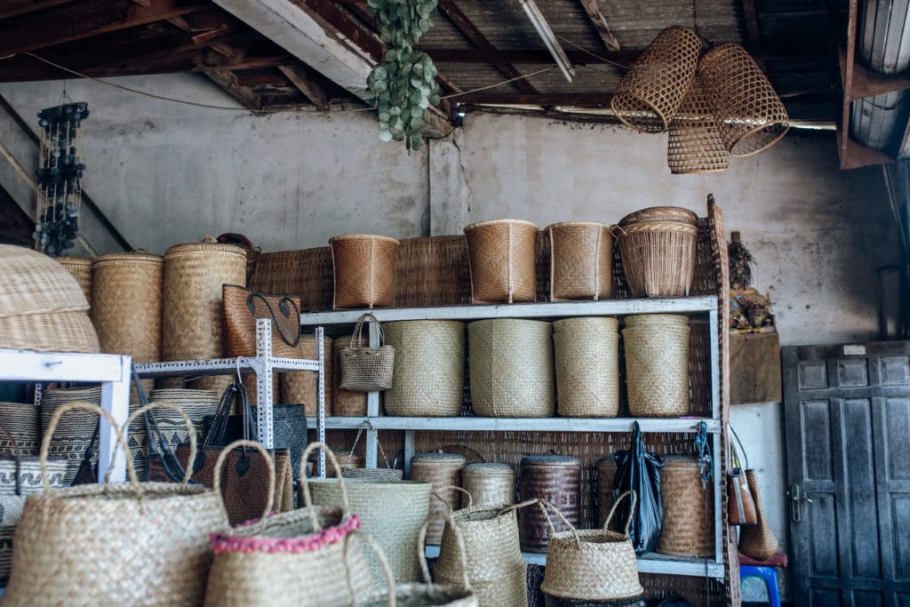Travel photography Bali - Ubud Market - Wicker baskets