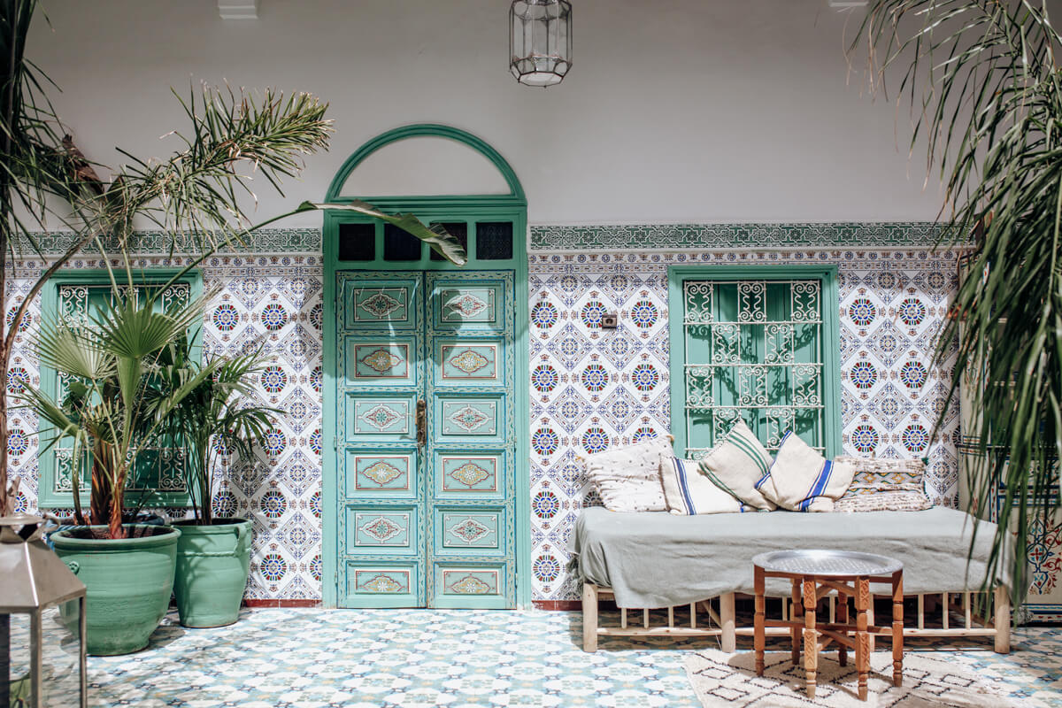 Best places to eat in Marrakech - Riad Be - Inner Patio