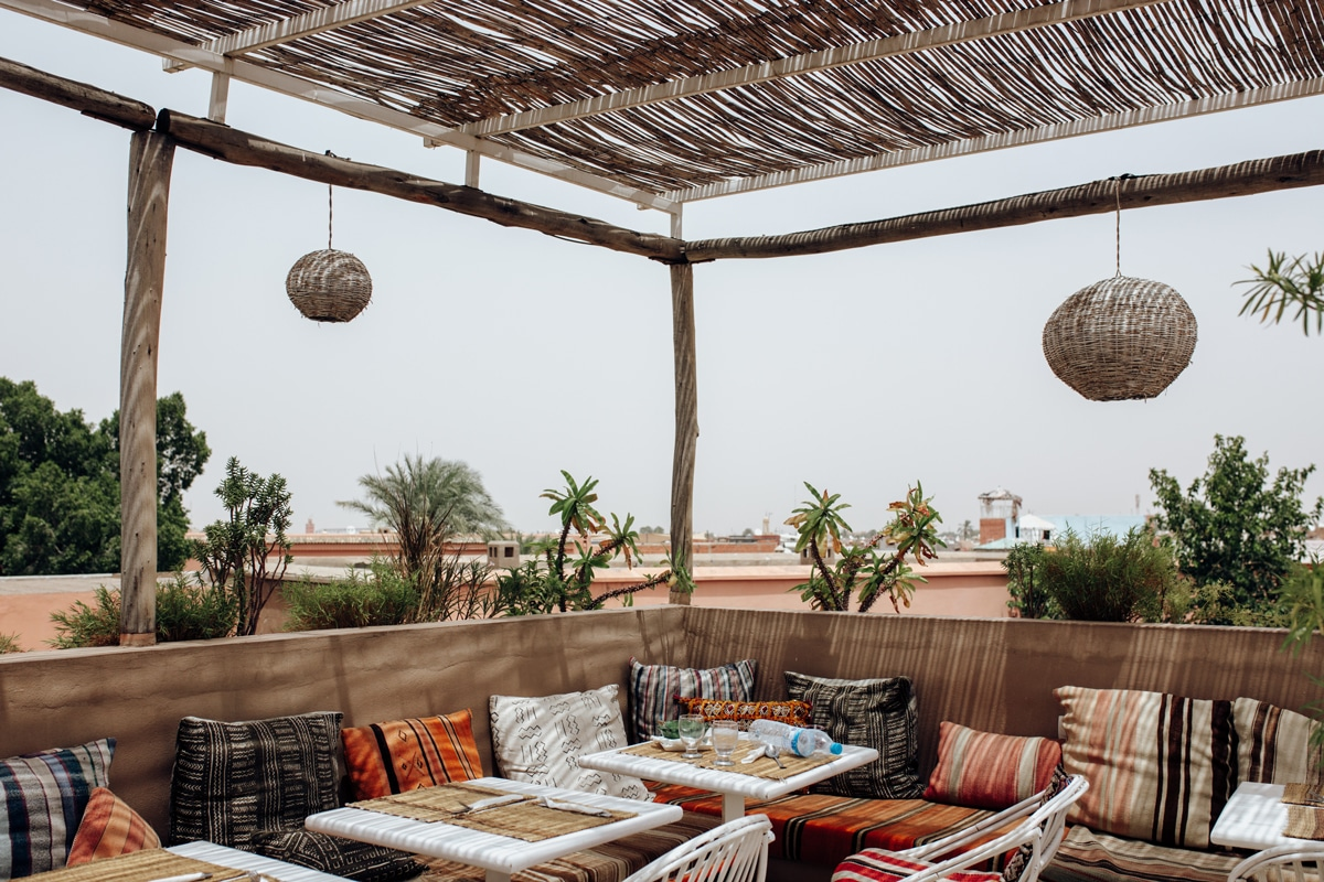 Best places to eat in Marrakech - Atay Cafe - Rooftop
