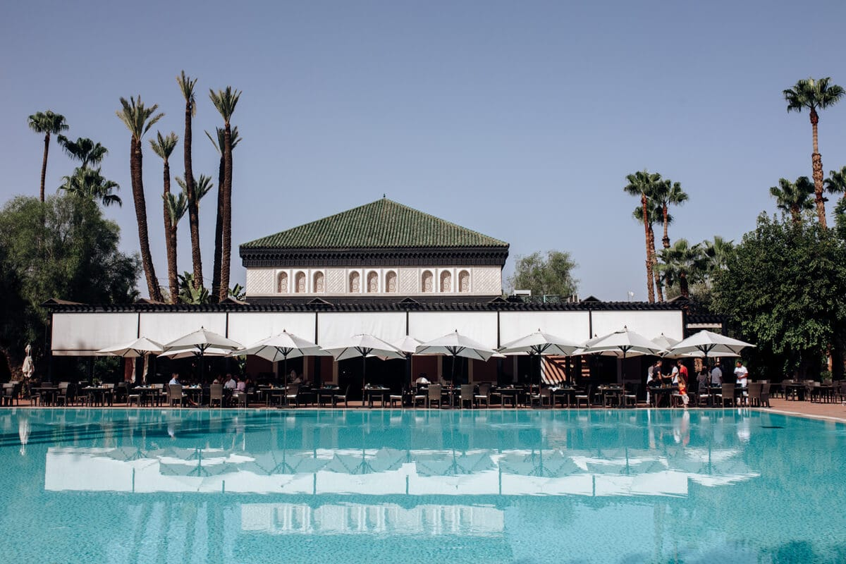 Best places to eat in Marrakech - La Mamounia - Breakfast by the swimming pool