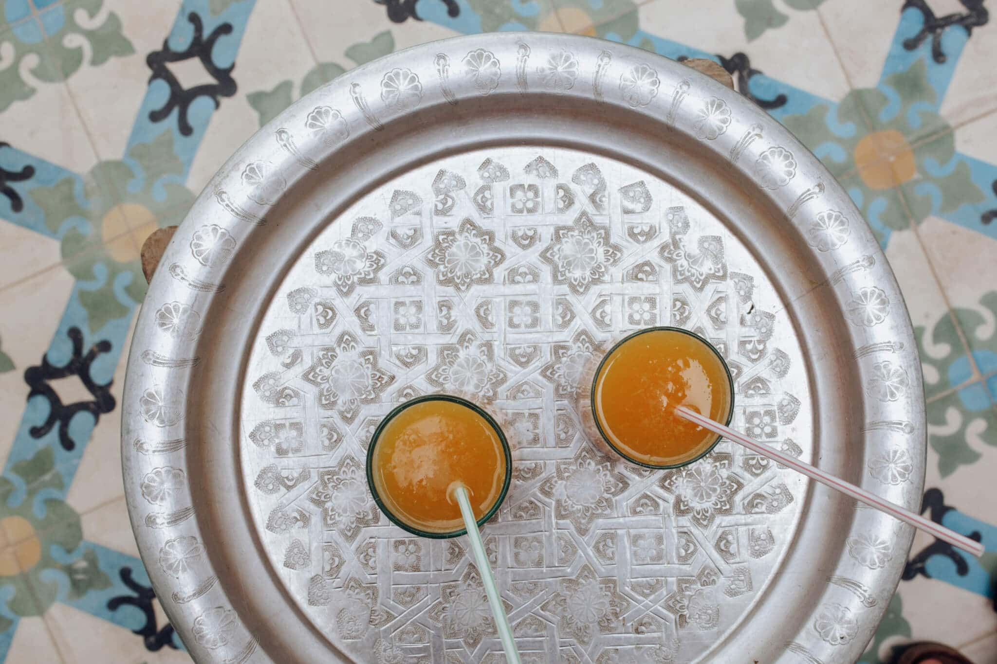 Best places to eat in Marrakech - Riad Be - Orange juice