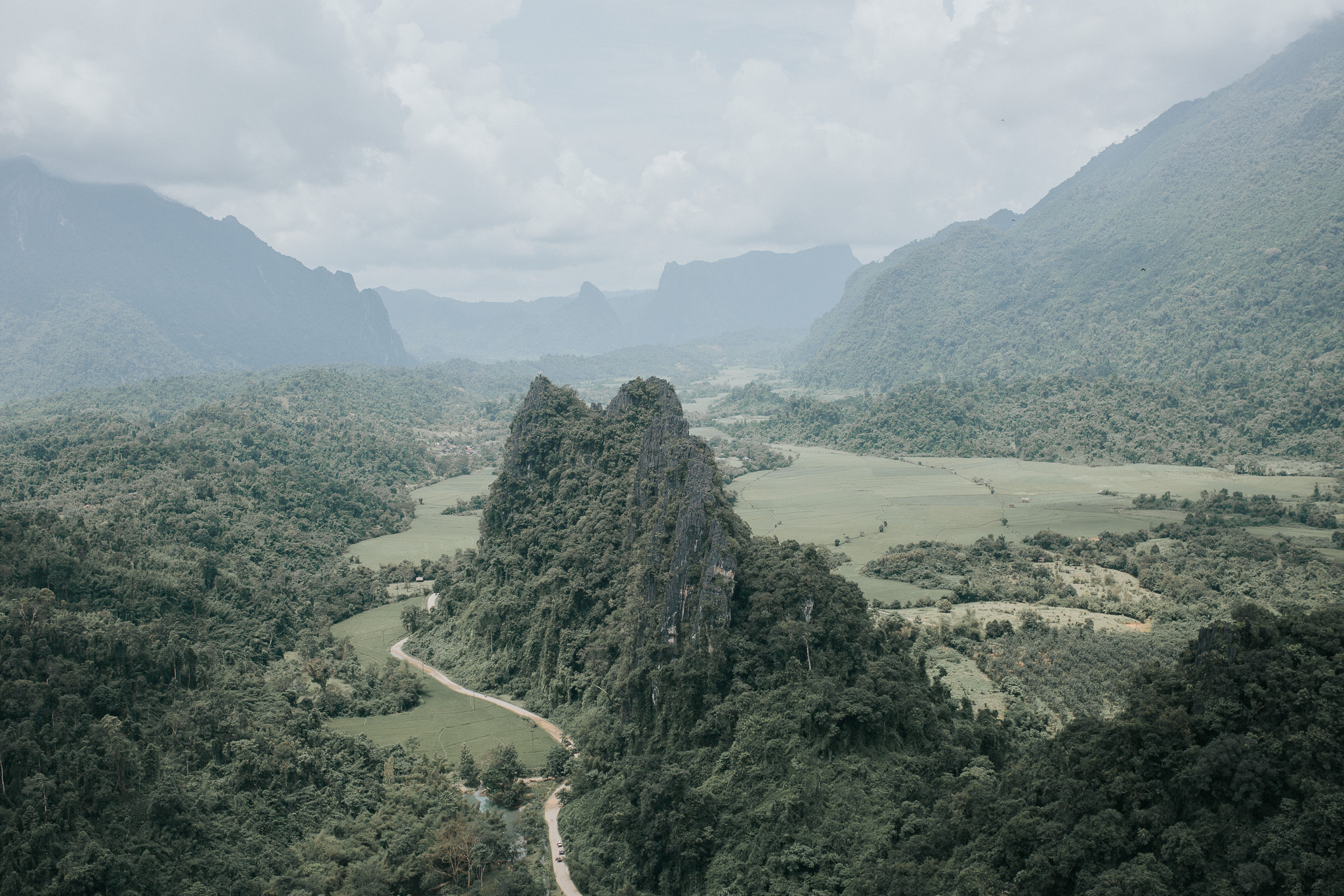 On week in Laos - Vang Vieng - View from Nam Xai viewpoint