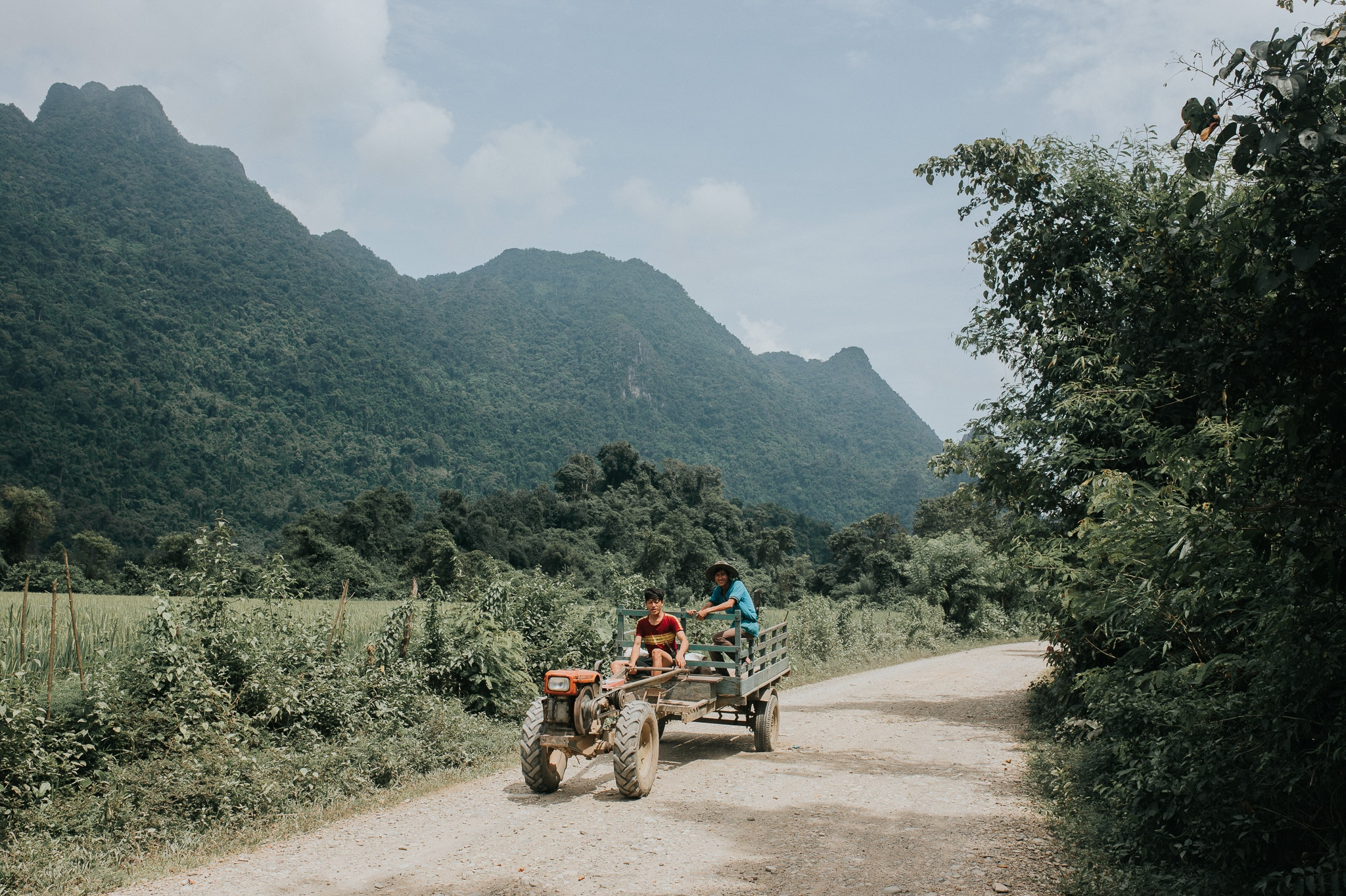 On week in Laos - Vang Vieng - Around town