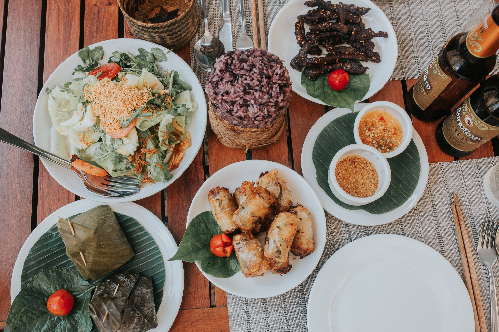 One week in Laos - Luang Prabang - Food feast at Coconut Garden