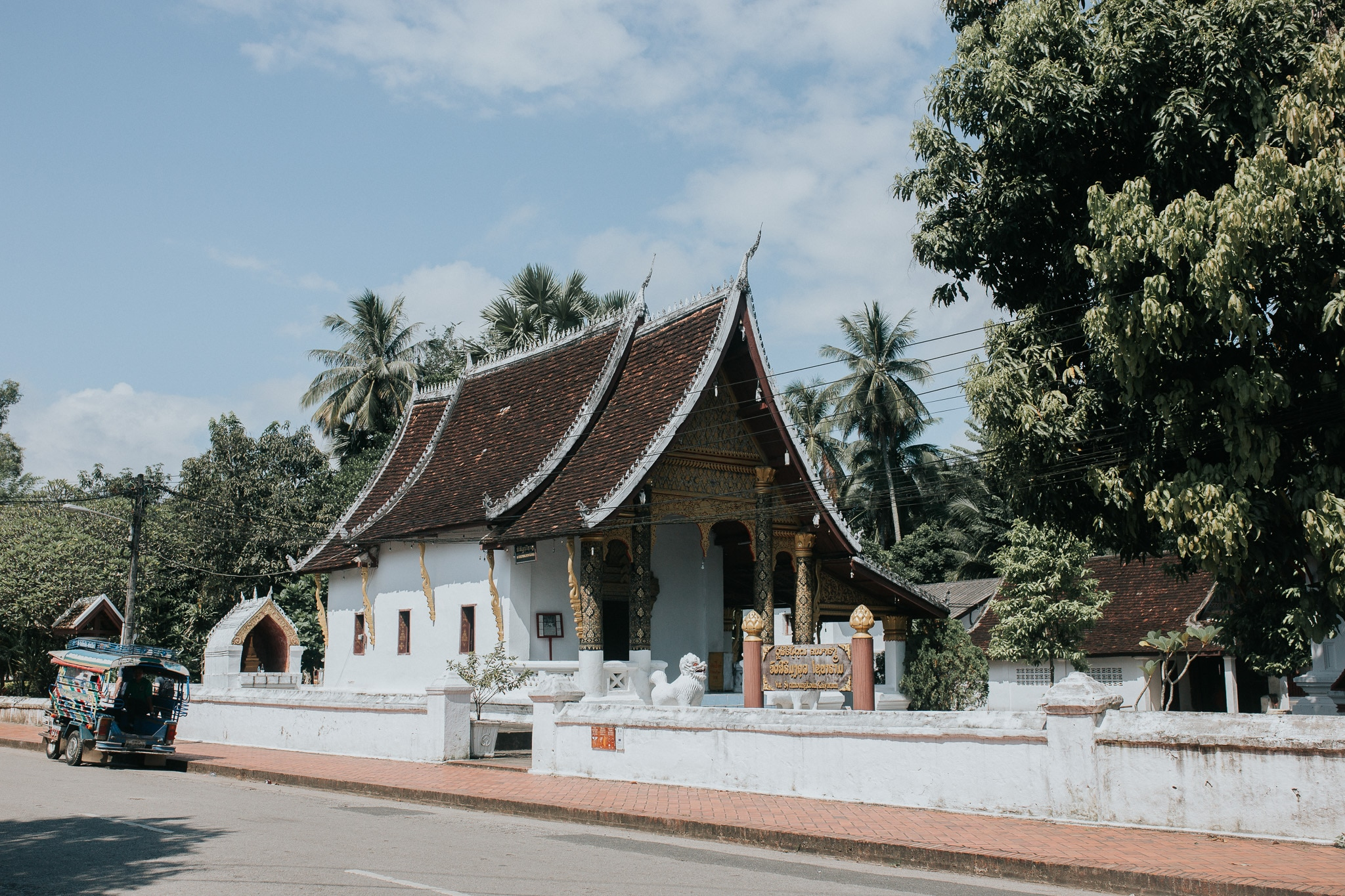 One week in Laos - Luang Prabang - Buddhist temple in Sakkaline road