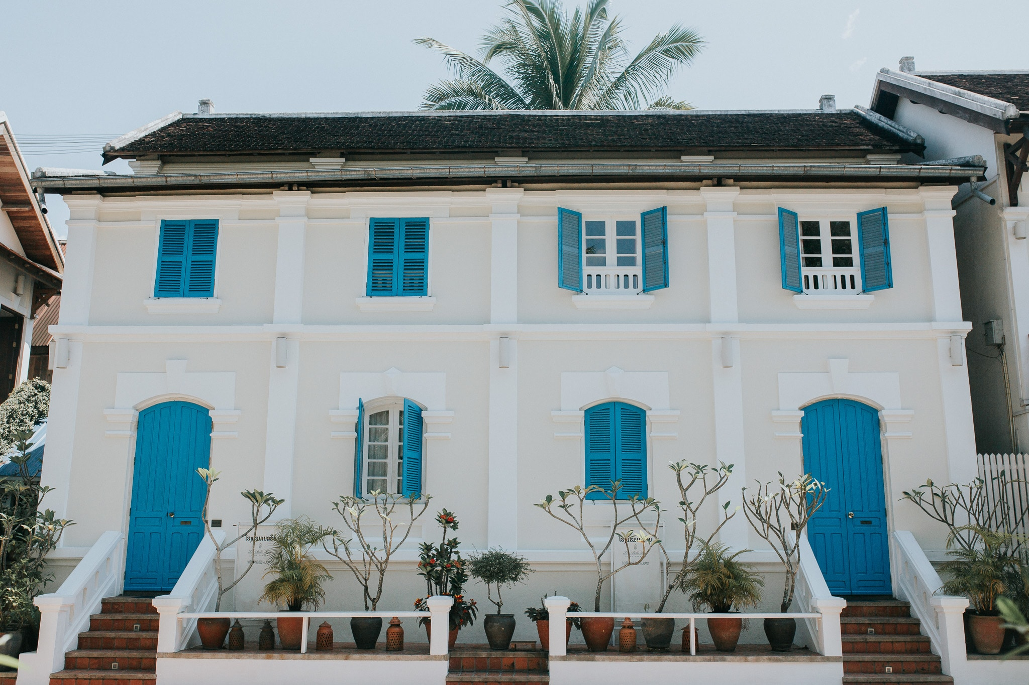 One week in Laos - Luang Prabang - White colonial house