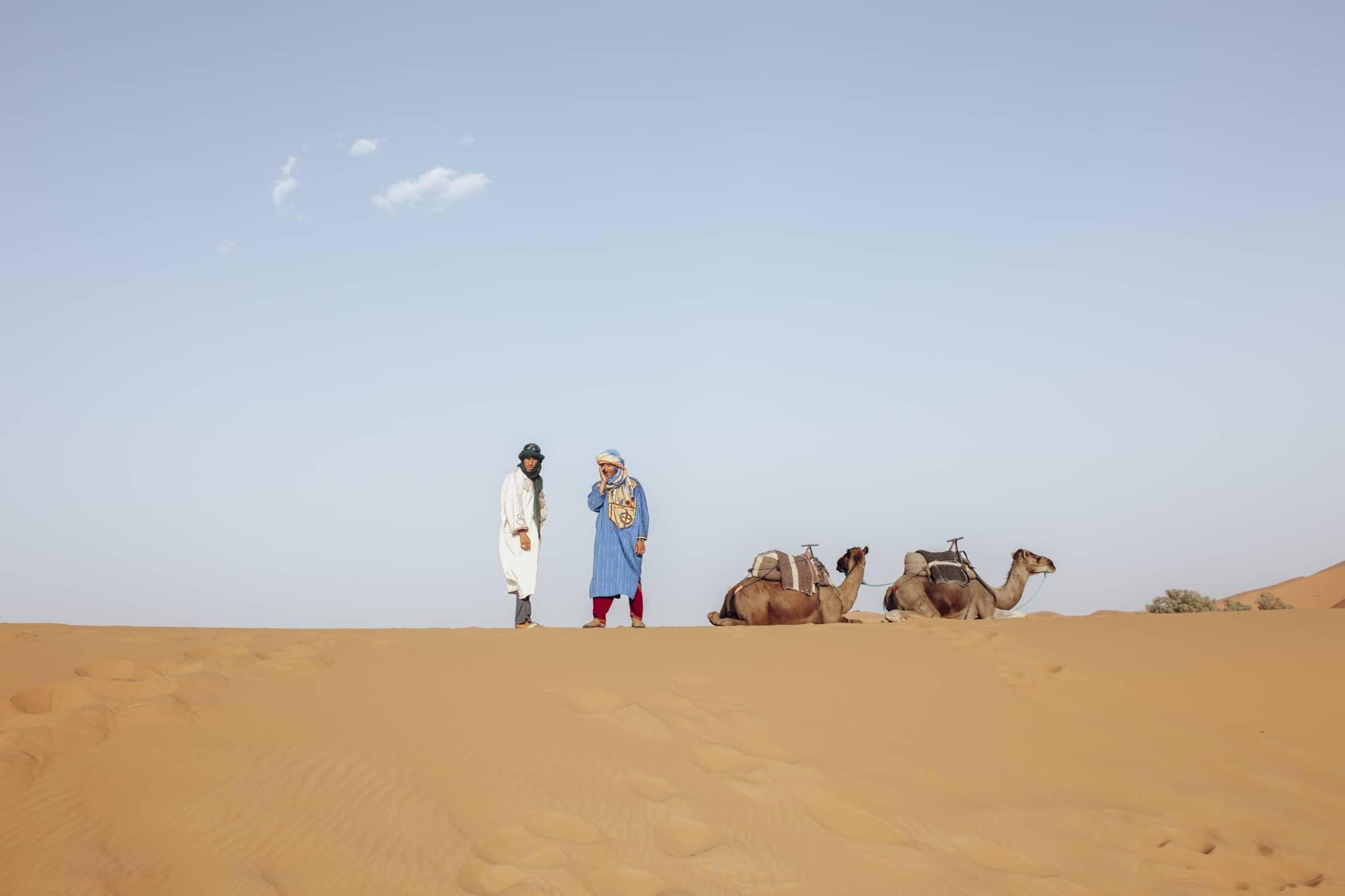 Berbers on Erg Chebbi dunes