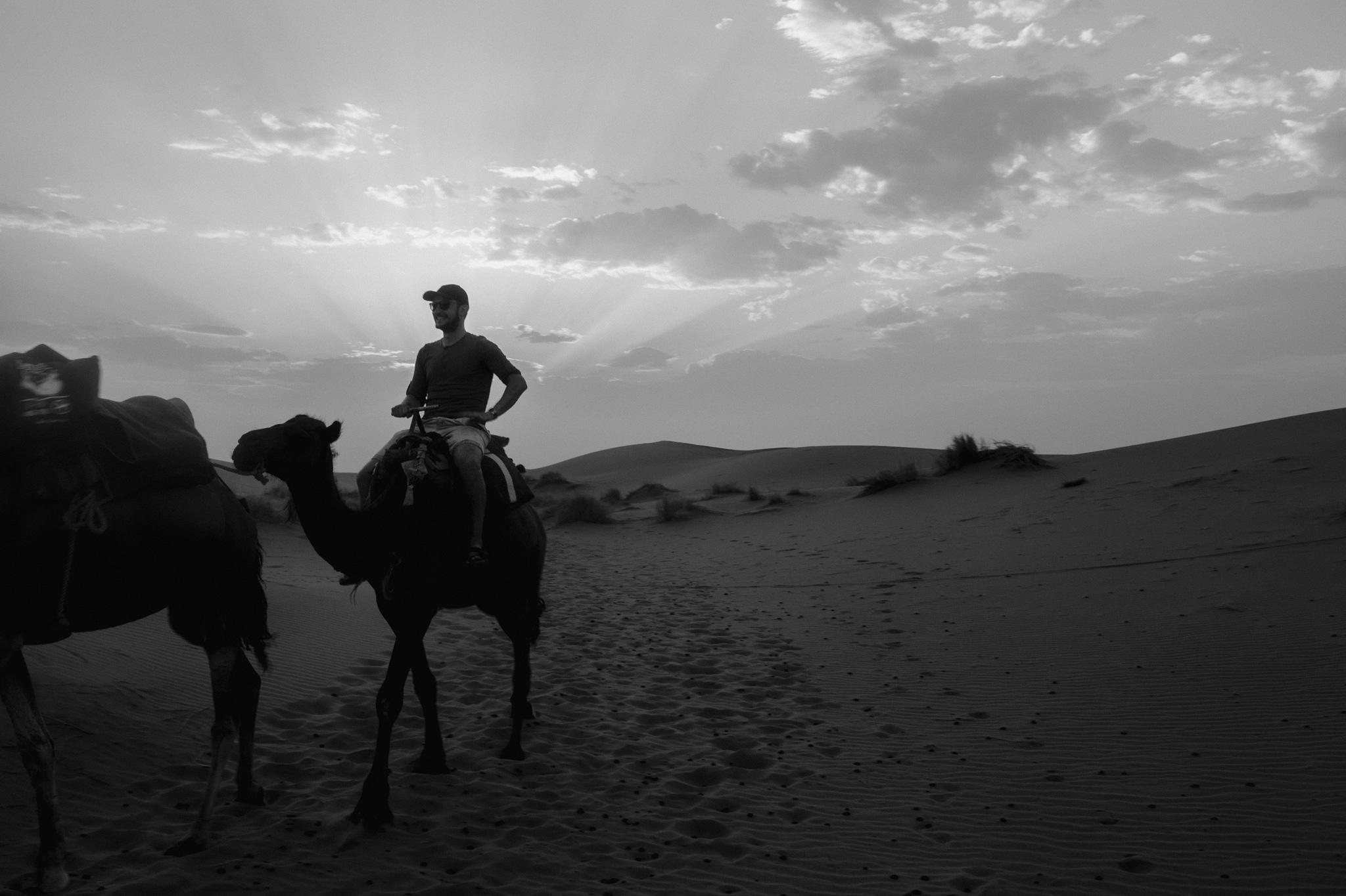 Camel ride at Erg Chebbi